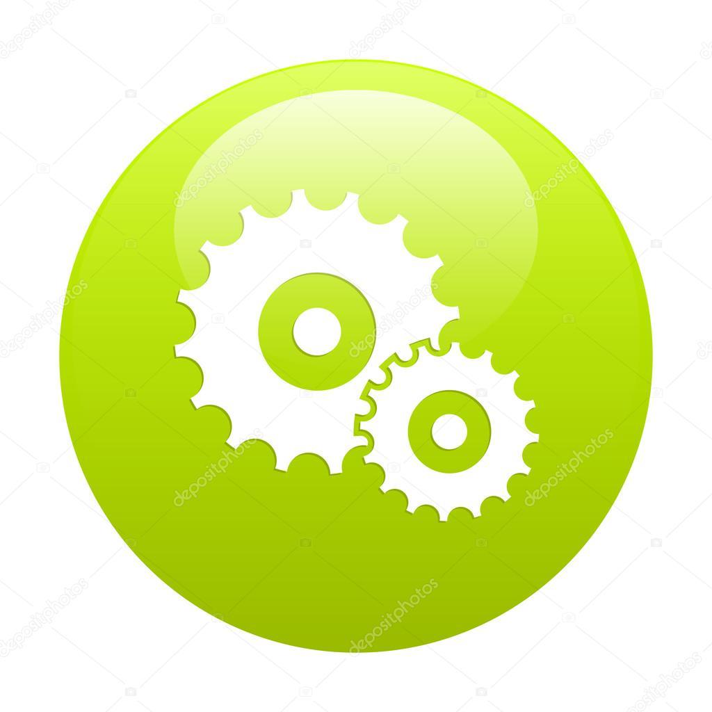 Button settings icon green
