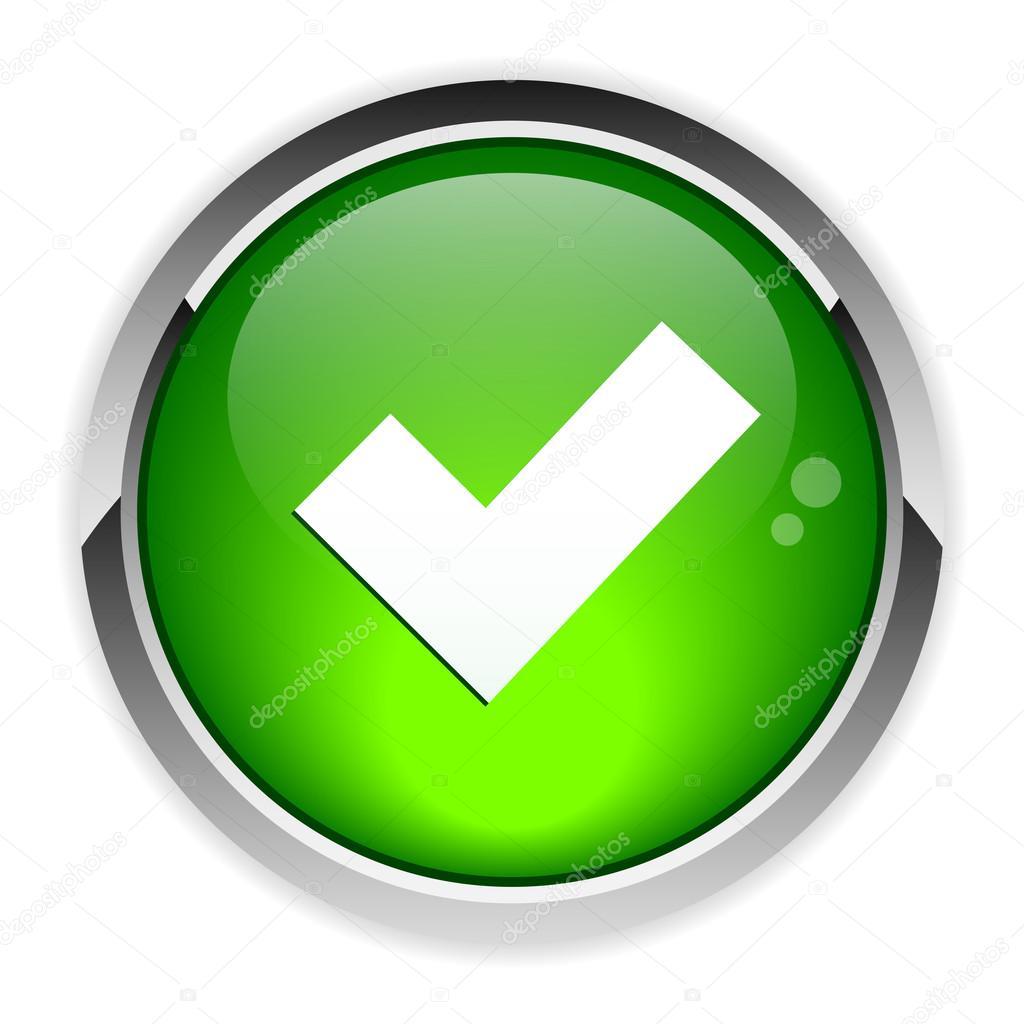 Bot n aceptar icono vector de stock maxsim 31144993 for Icono boton