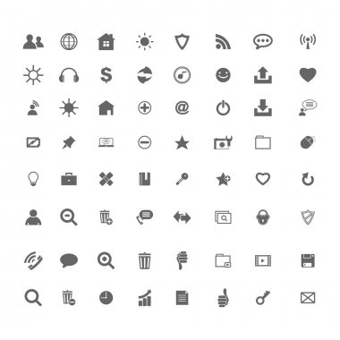 Business icons on white background web buttons