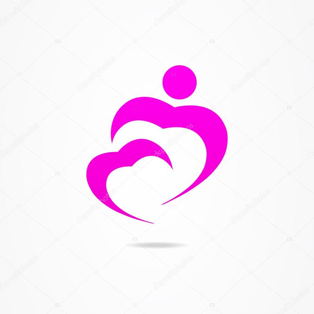 1d1f4b897845 Логотип бизнес дизайн сердца человек — Векторное изображение ...