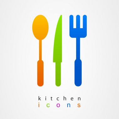 Kitchenware icon sign fork knife spoon