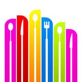 A logót étterem konyha meg a színes ikonok