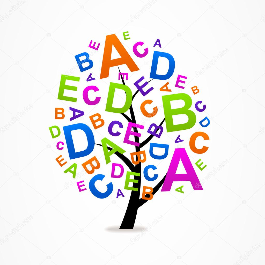 Logo Business Abstract Tree Letters Abc Stock Vector C Maxsim