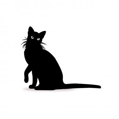 Form contour cat sign logo