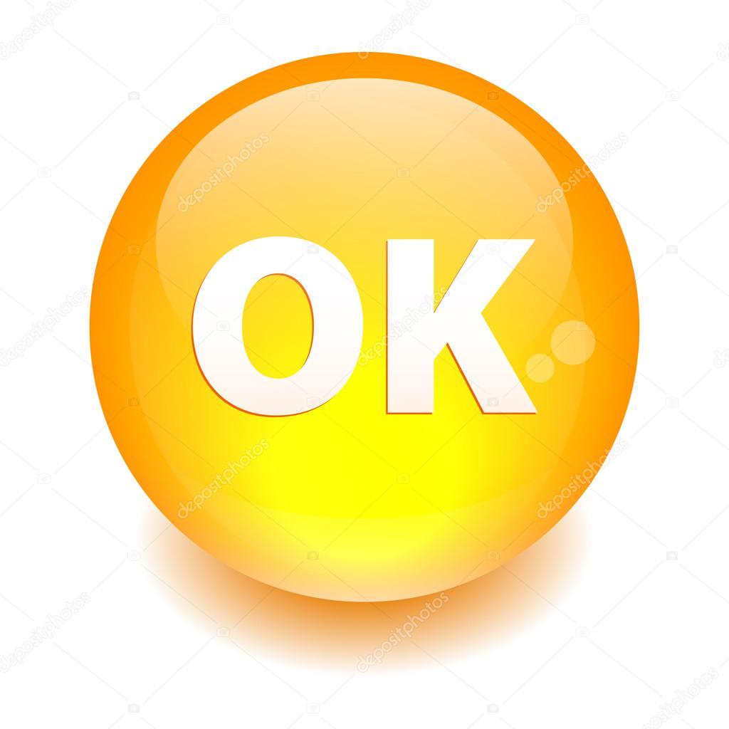 bouton internet ok icon orange stock vector maxsim 42313859. Black Bedroom Furniture Sets. Home Design Ideas