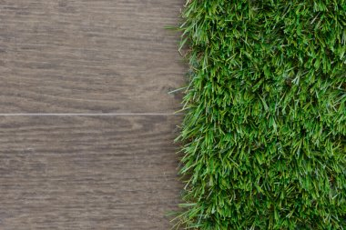 artificial grass and