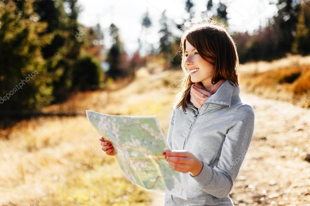 Hiking during autumn