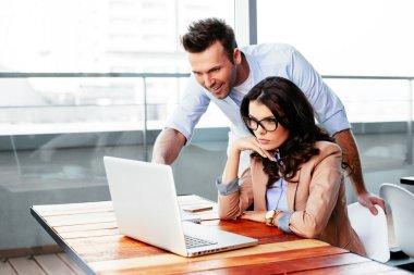 Freelancers using a laptop