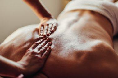 Man getting a relaxing massage