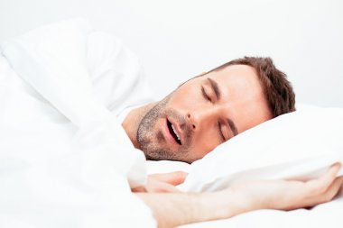 Man sleeping with open mouth