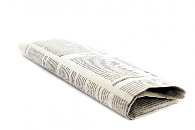 Newspaper isolated