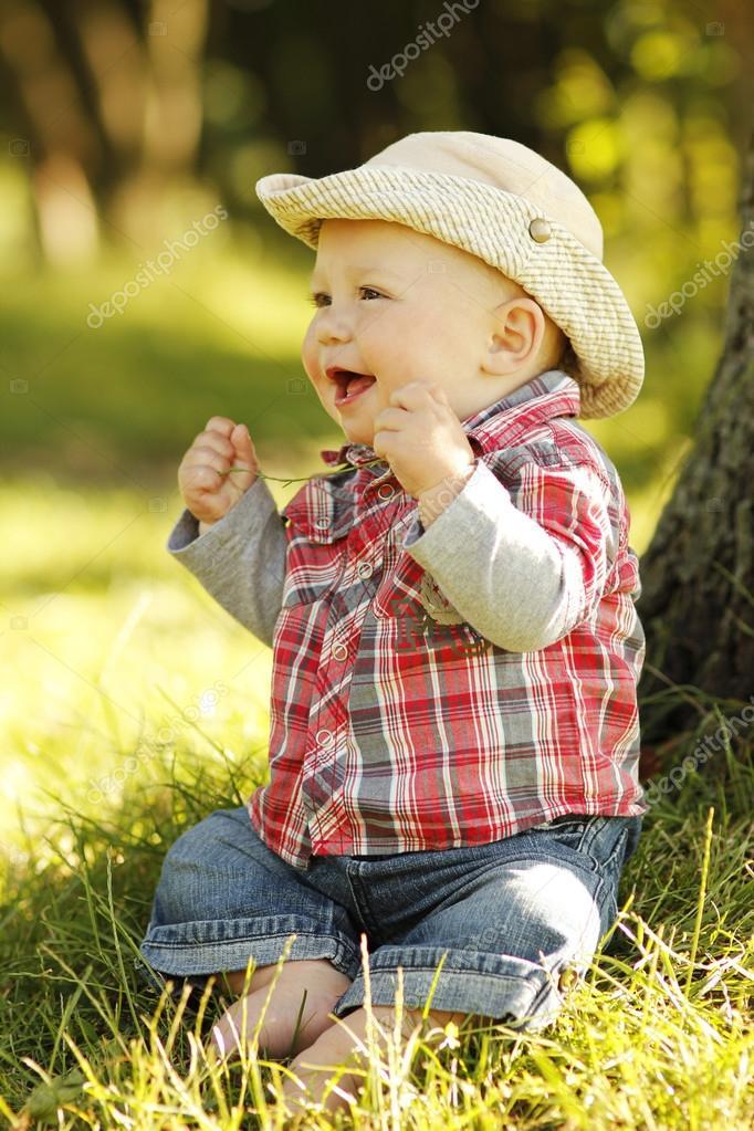 Bebe vaquero– imagen de stock cf6cb955540