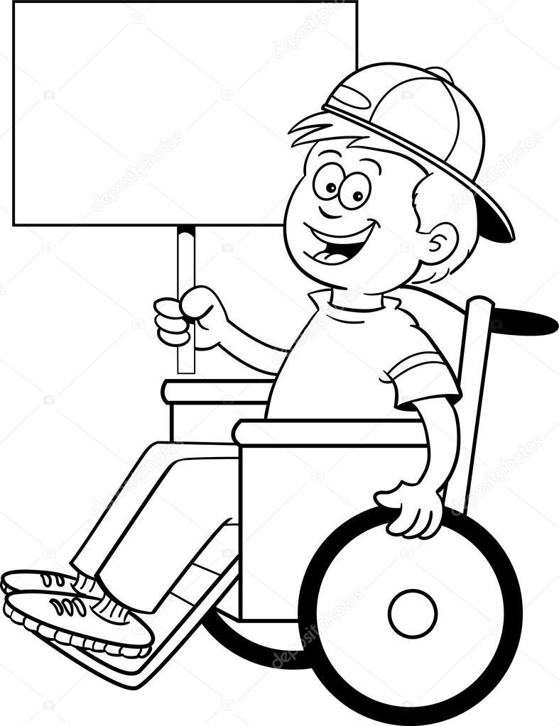 Tekerlekli Sandalye Işareti Stok Vektör Kenbenner 13619853