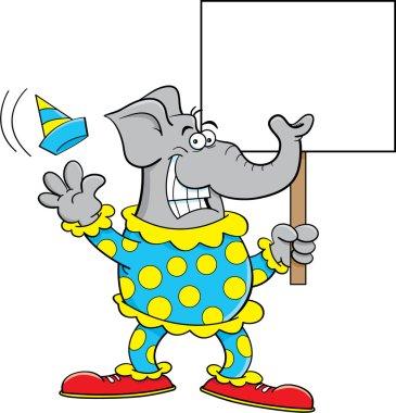 Cartoon Clown Elephant