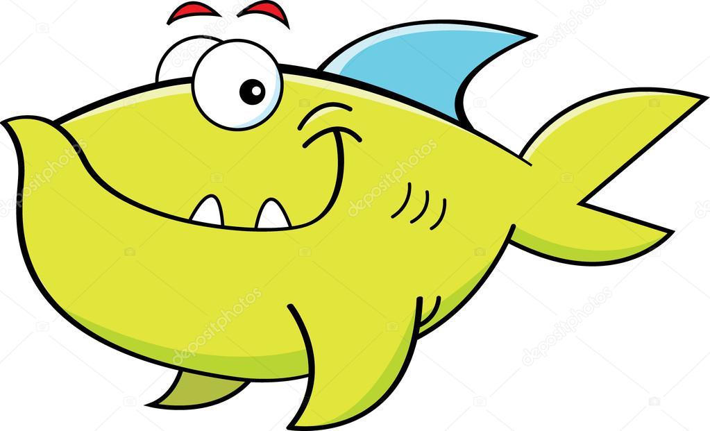 Cartone animato sorridente pesce — vettoriali stock
