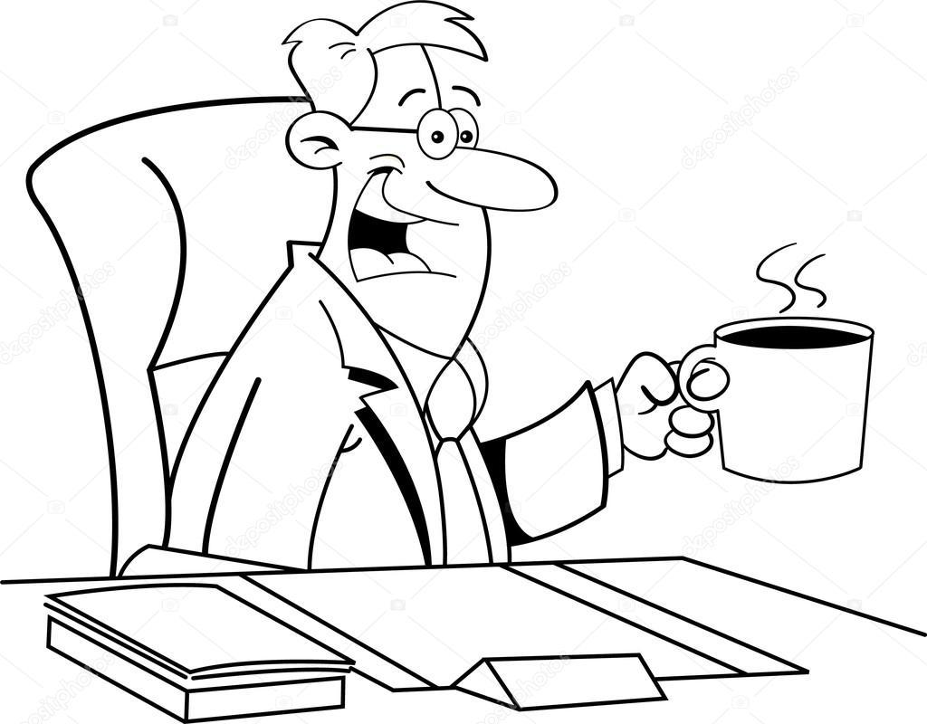 Imágenes Personas Tomando Cafe Para Colorear Hombre De