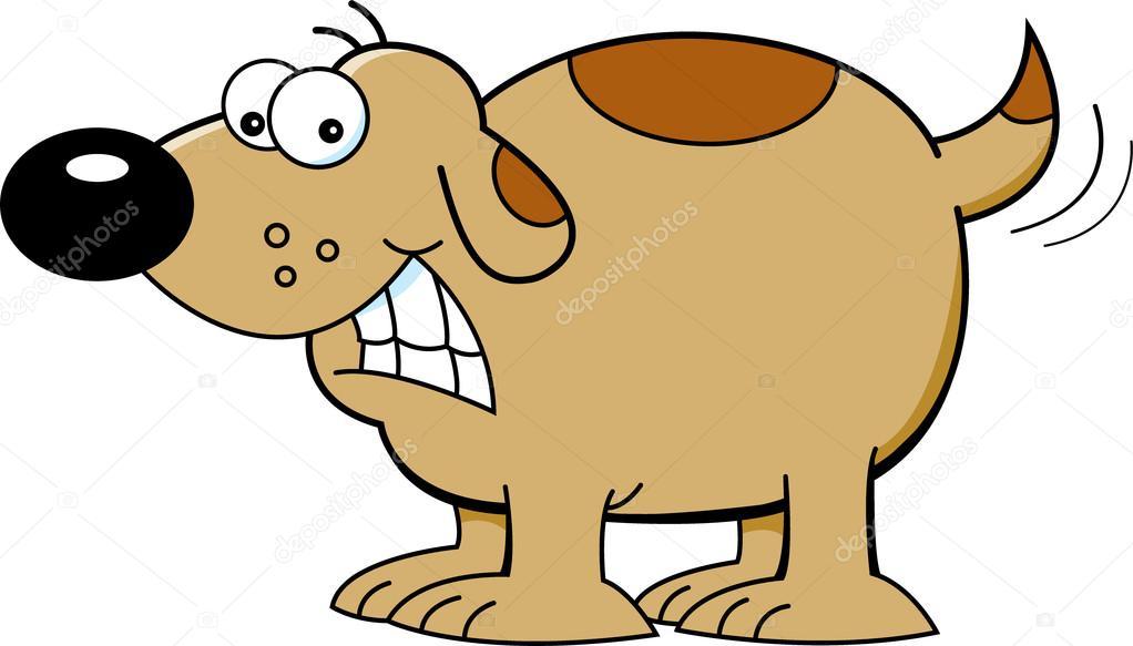 Cartoon dog wagging it's tail