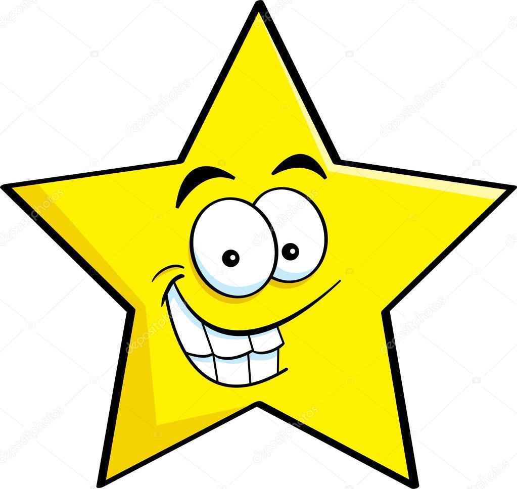 Cartoon smiling star — Stock Vector © kenbenner #15861789
