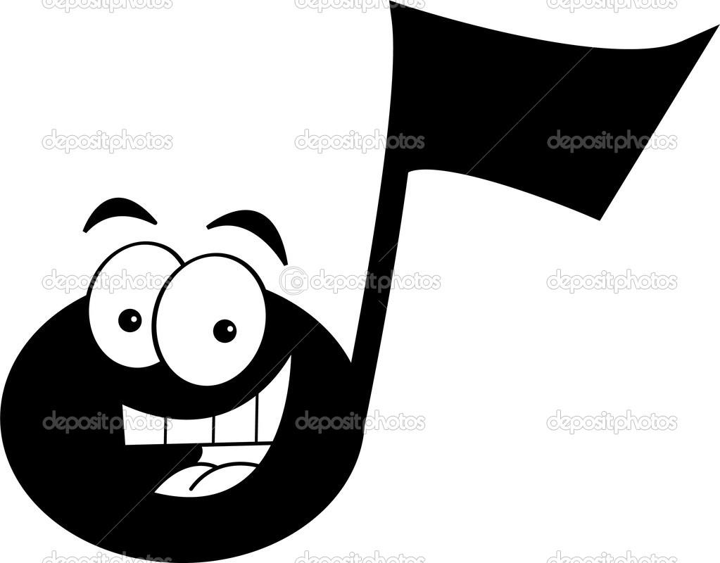 Note de musique dessin anim image vectorielle kenbenner - Note musique dessin ...