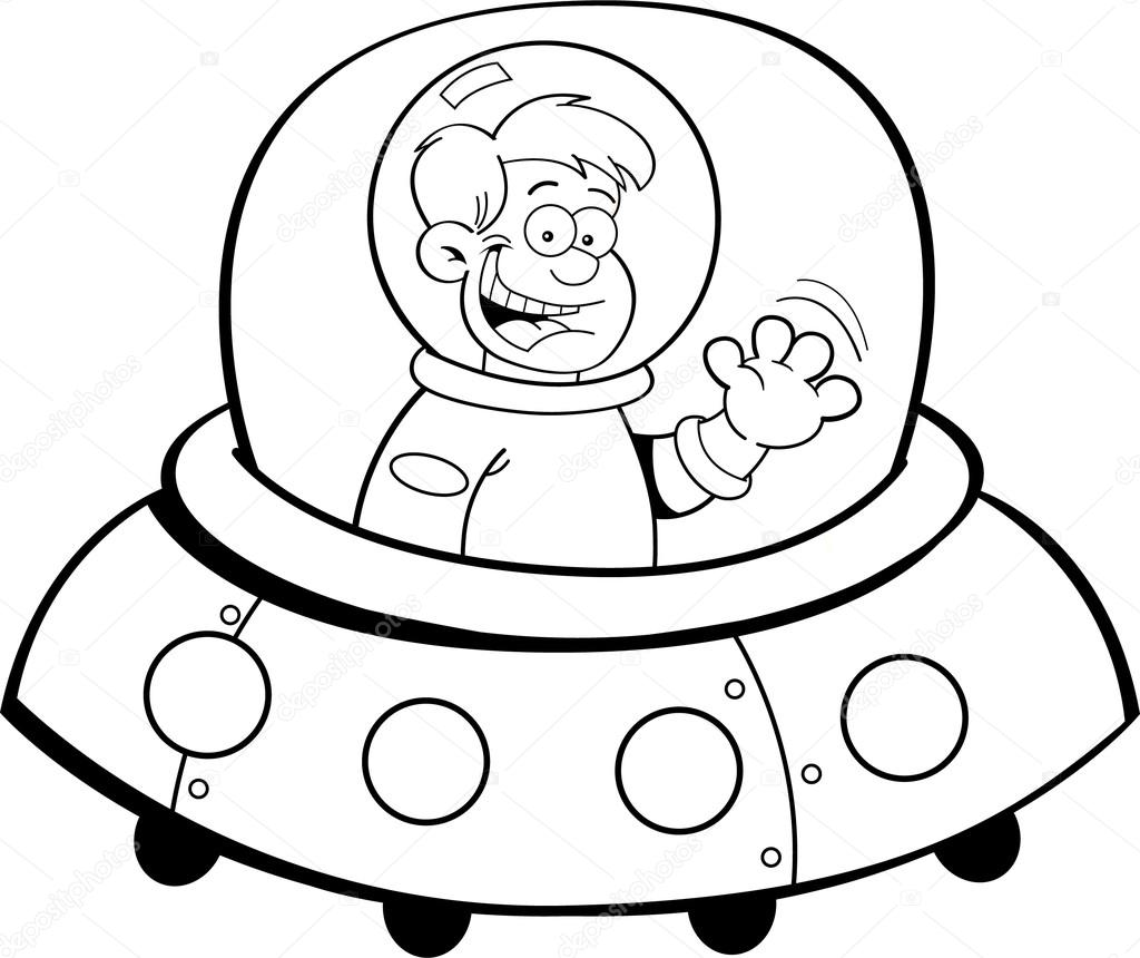 Cartoon Boy In A Spacecraft Stock Vector C Kenbenner 22505565