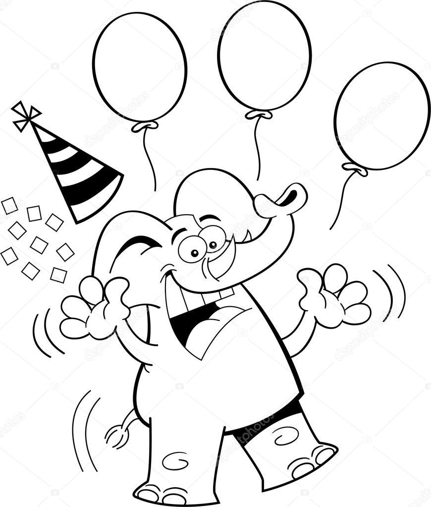 чёрно белая картинка с днем рождения