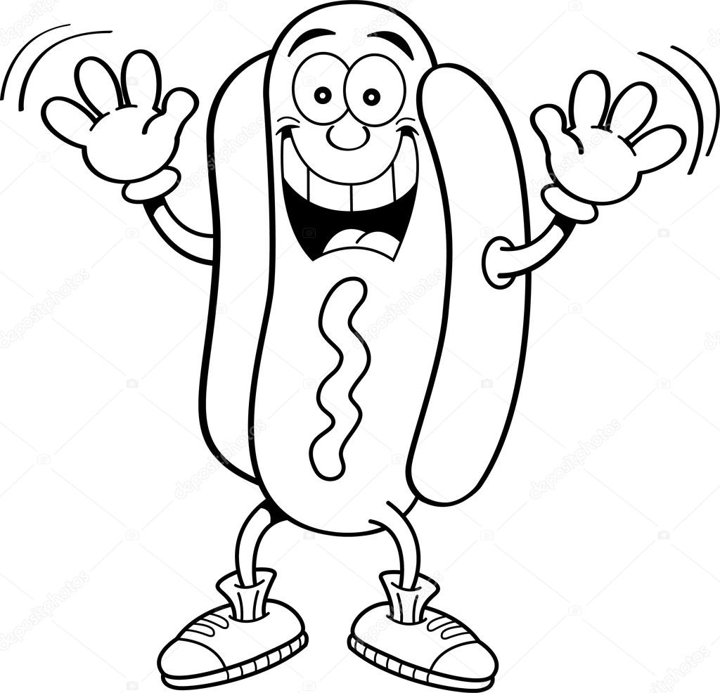 It's just a picture of Ambitious Hot Dog Coloring Pages