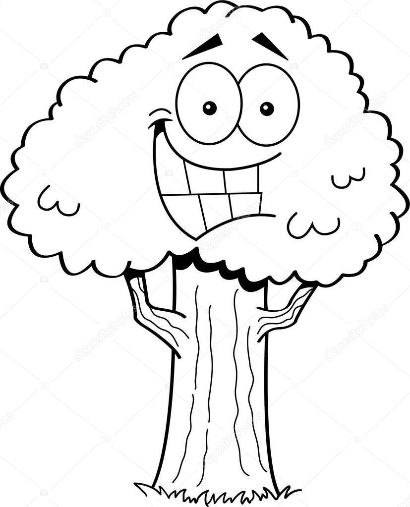 cartoon tree u2014 stock vector kenbenner 43961137