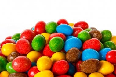 Closeup of colored chocolate sweets