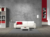 Photo Fictitious modern living room