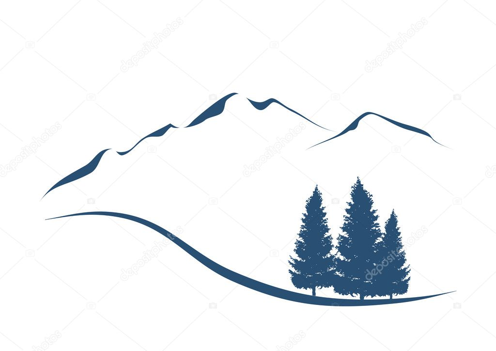 Mountains and firs