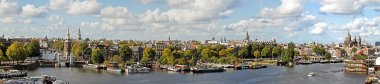 Panorama from the city Amsterdam in the Netherlands