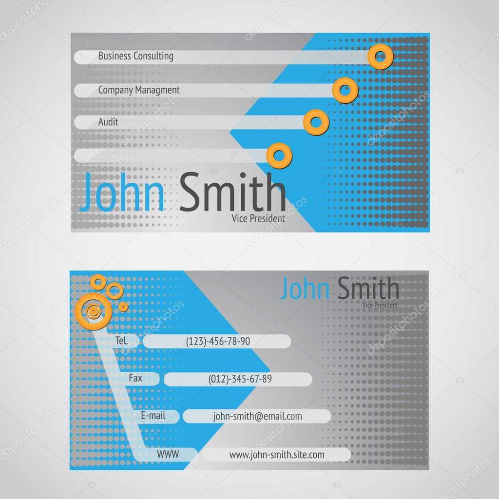 Stylish modern vector business card with standart 90 x 50 mm stock stylish modern vector business card with standart 90 x 50 mm stock vector reheart Images