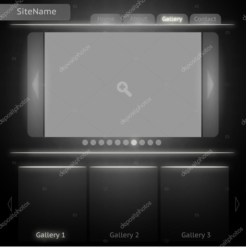 plantilla de sitio blanco y negro para la galería de imágenes ...