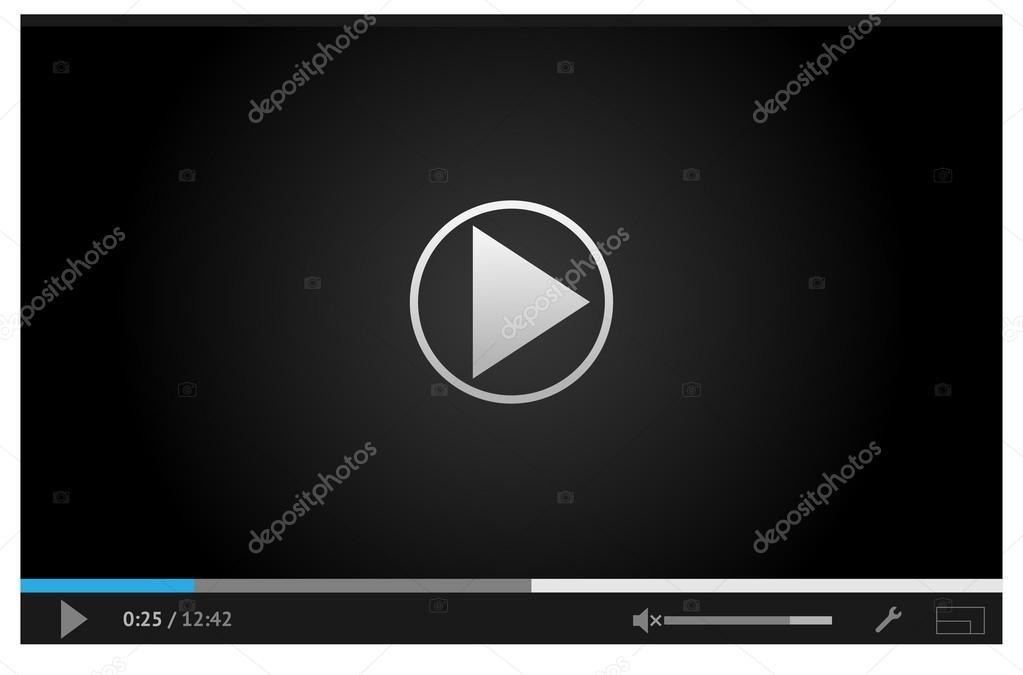 einfache online-video-Player für das Web in dunklen Farben ...