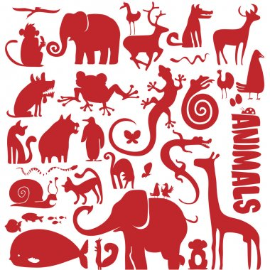 Funky animals vector collection