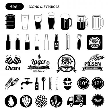Beer icons & design elements
