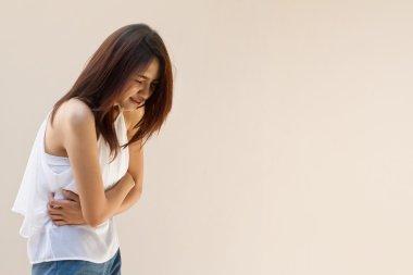 menstruation pain or stomach ache, mild pain
