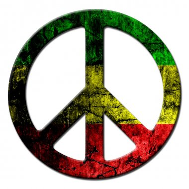 Peace sign rasta