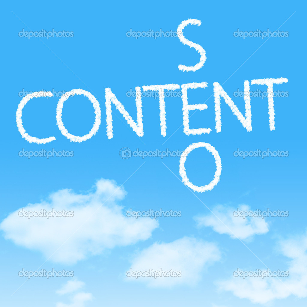 Content SEO crossword cloud icon with design on blue sky background