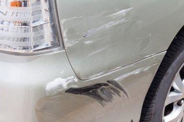Scratched car paint