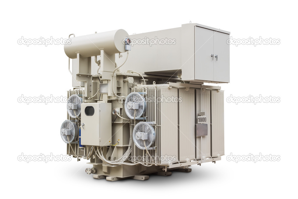 Oil immersed power transformer — Stock Photo © teptong #46173627
