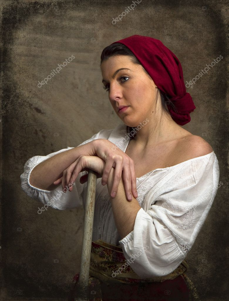 Peasant Girl - Old World