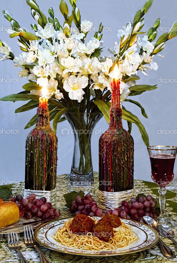 Dinner Table Setting (Italian Style) u2014 Stock Photo & Dinner Table Setting (Italian Style) u2014 Stock Photo © TrudyWilkerson ...