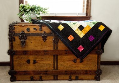 Home-made Quilt on Antique Chest