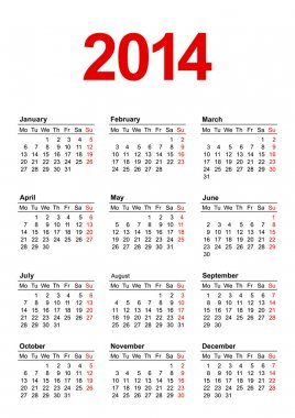 European Calendar 2014