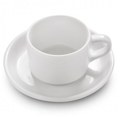 Empty tea cup. Clipping Path stock vector