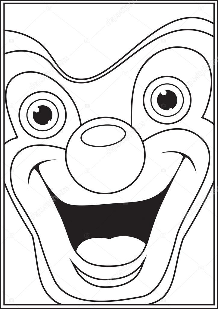 Vektör çizim Boyama Palyaço Stok Vektör Yusufdemirci 24733081