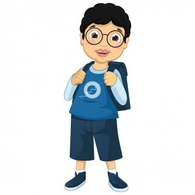 Boy Student Vector Illustration