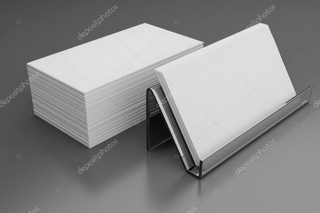 Professional blank business card — Stock Photo © pol_1978 #49904211