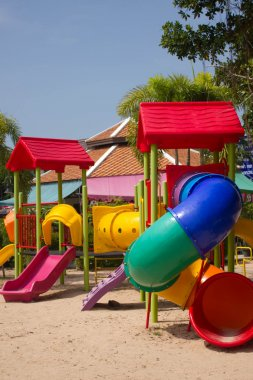 Colourful children playground equipment